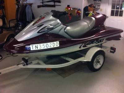 2001 kawasaki stx 1100 cc pwc for sale, parsons, tennessee 38363